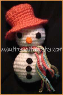 Beachy Crochet Snowman