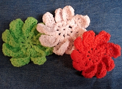 Crochet Flower with 9 Petals