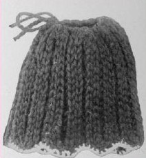 Spool Knit Doll Skirt Pattern