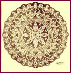 Crochet pattern for flower border doily. - Crafts - Free Craft