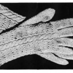 Vintage Knitting Pattern - Ladies Gloves with Fancy Backs