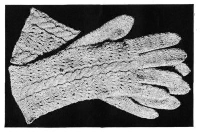 Vintage Knitting Pattern – Ladies Gloves with Fancy Backs
