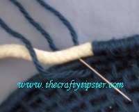 woven yarn basket how to