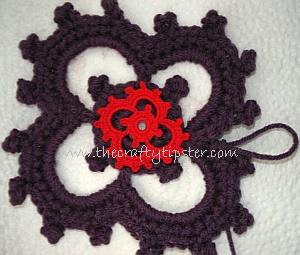 Crochet Motif Pattern with Picots