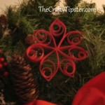 Christmas Poinsettia Ornament