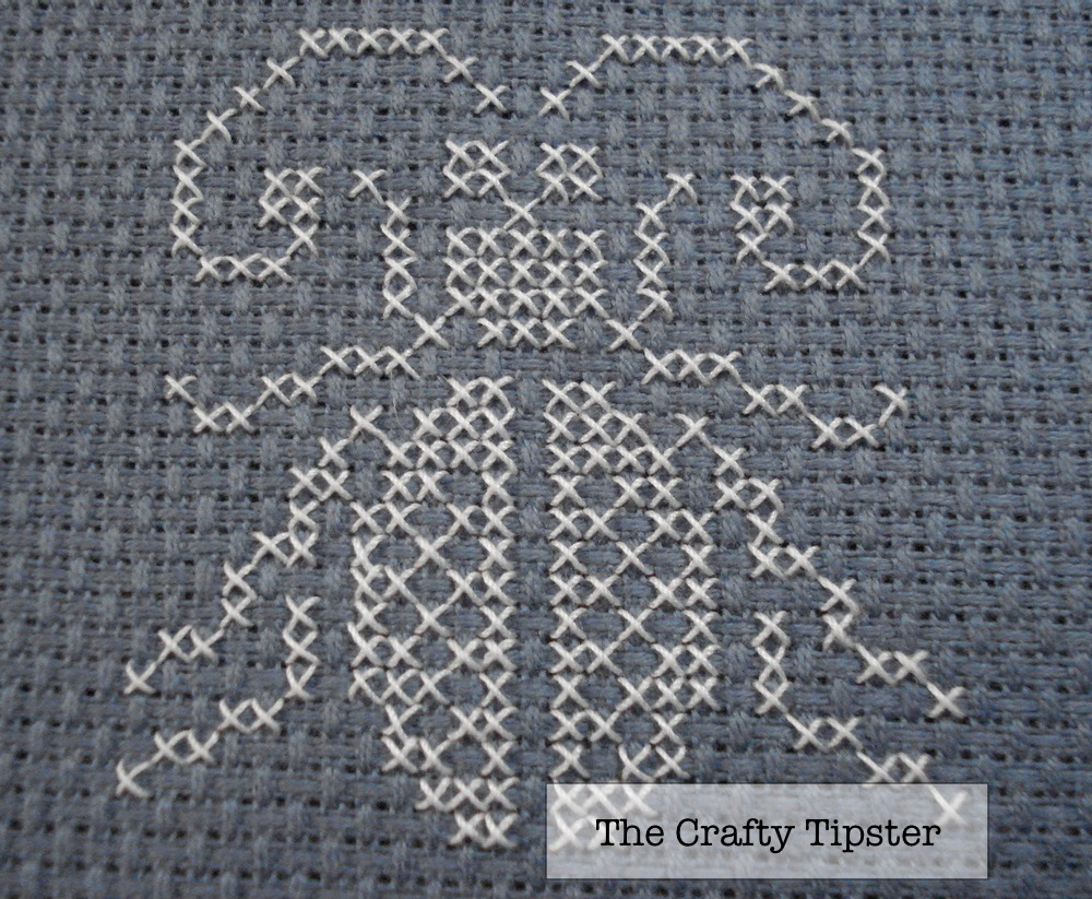single color cross stitch beetle pattern from The Crafty Tipster