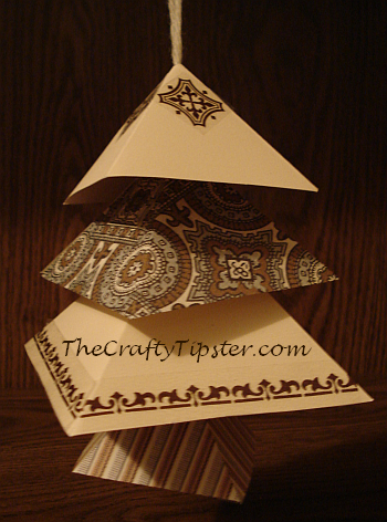 Paper Christmas Tree Ornament