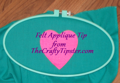 felt applique in an embroidery hoop