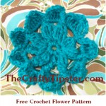 Wide Pouf Crochet Flower Pattern