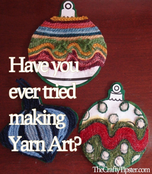 Scrap Yarn Ornaments