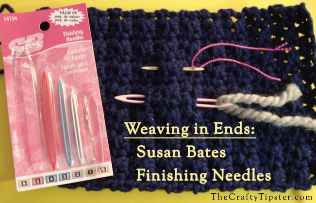 susan bates finishing needles for weaving in ends on crochet pieces