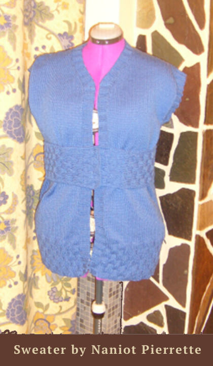 knitted sleeveless sweater