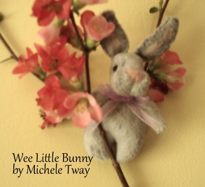 tiny plush bunny by Michele Tway