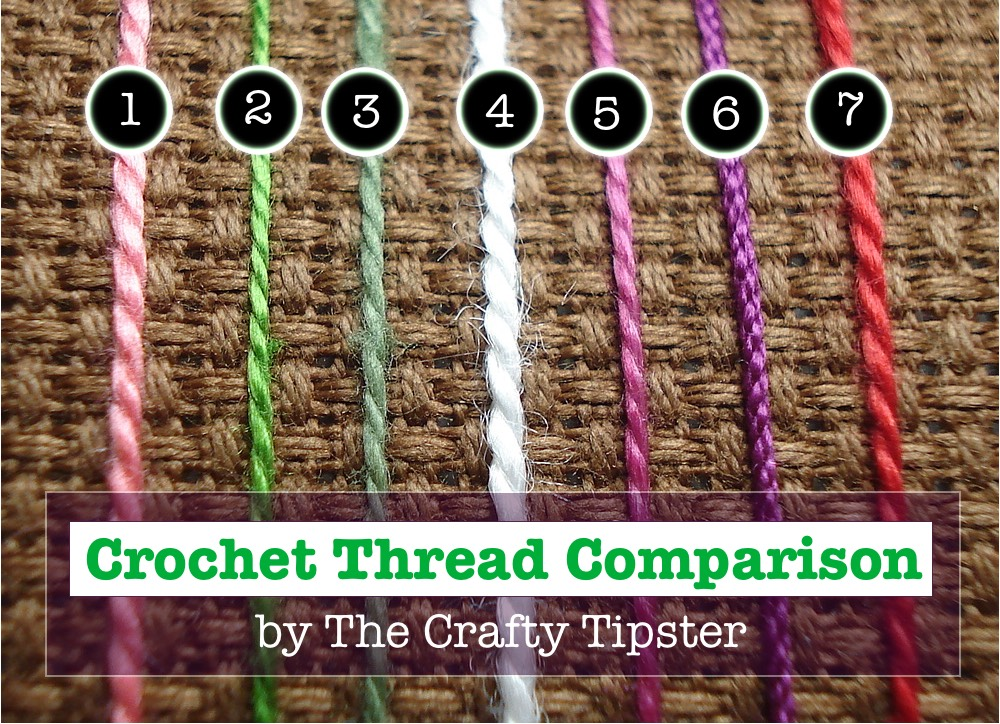 comparison of crochet threads by Michele aka The Crafty Tipster
