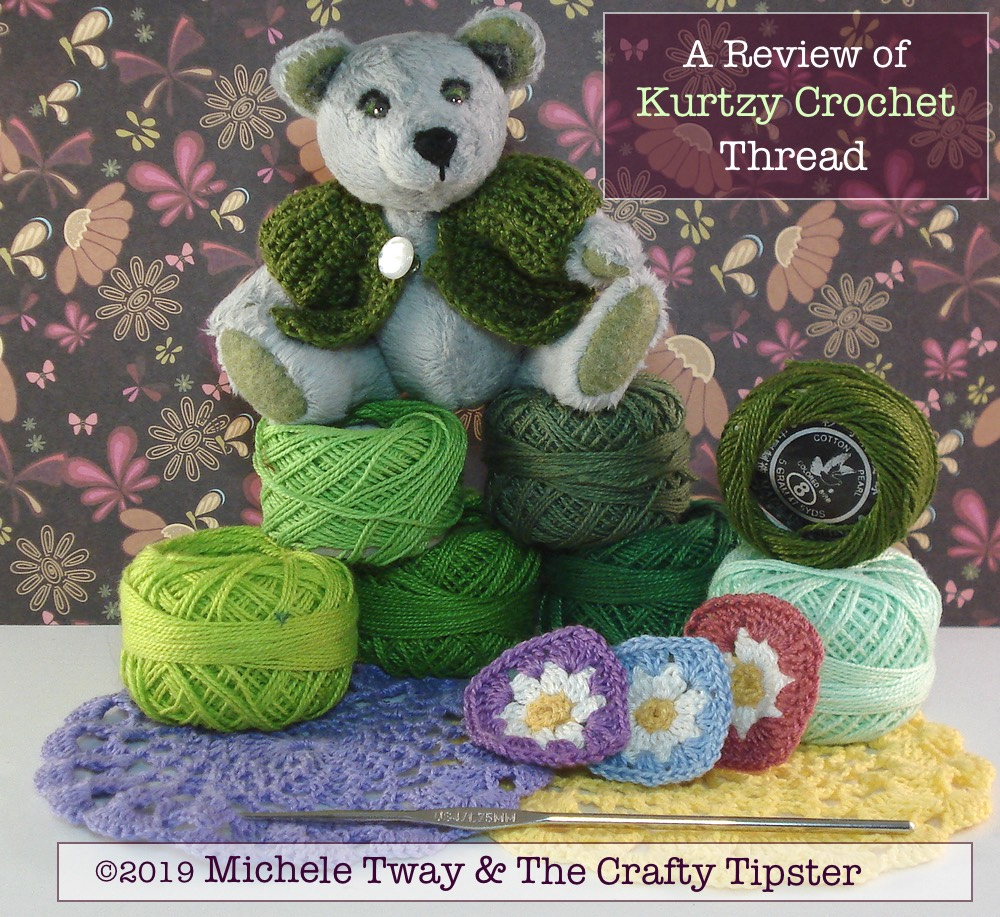 A review of Kurtzy Crochet Thread by Michele Tway aka The Crafty Tipster