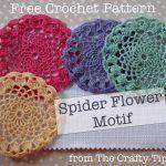 Spider Web Flower Motif